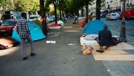 Migrants avenue de Flandre